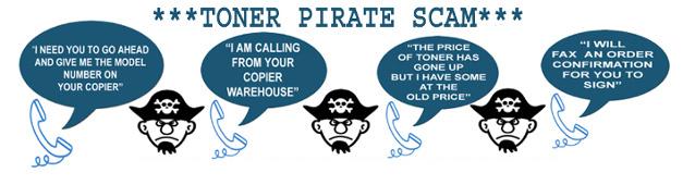 Toner Pirate Scam