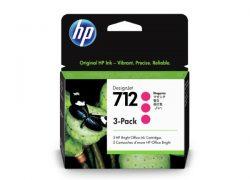 HP 712 (3ED78A) Magenta Original Ink Cartridge (3 Pack)